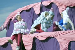 Color dreams. Street theater performance in Gorky park in Moscow. Royalty Free Stock Photos