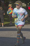 Color Drenched Runner Royalty Free Stock Photos