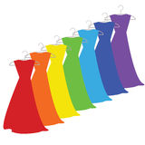 Color dresses Royalty Free Stock Photography