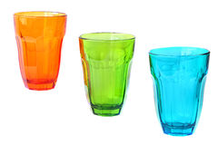 Color drink glasses Royalty Free Stock Image