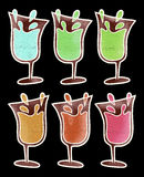 Color drinks Royalty Free Stock Photos