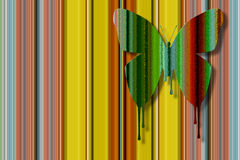 Color dripping butterfly Stock Photography