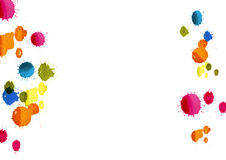 Color drop background,colorful watercolor painting on white background,vector illustration Stock Photography
