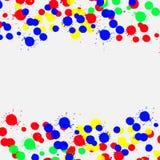 Color drop ink splatter. EPS10 vector Stock Images