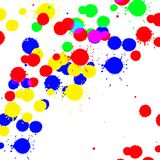 Color drop ink splatter Royalty Free Stock Images