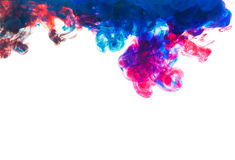 Color drop underwater creating a silk drapery Royalty Free Stock Image