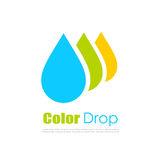 Color drop vector logo Stock Images