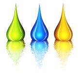 color droppar royaltyfri illustrationer
