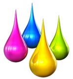 color droppar Arkivbilder