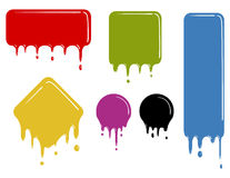 Color dropping shapes Stock Photo