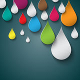Color drops Royalty Free Stock Photos