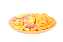 Color dry breakfast isolated on a white background Royalty Free Stock Photos