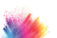 Color dust explosion royalty free stock photography