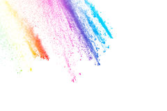 Color dust explosion Stock Photography