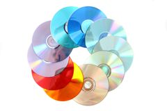Color dvd Stock Photo