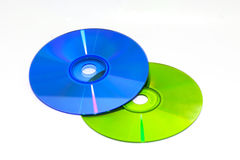 Color DVD and CD Stock Photos