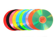 Color DVD and CD (data) Stock Photos
