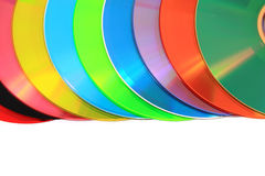 Color DVD and CD (data) Royalty Free Stock Photo