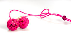Color earphones Royalty Free Stock Photography
