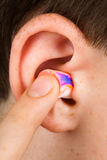 Color earplug Royalty Free Stock Photography
