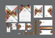 Color earthtones corporate identity template  for your business Royalty Free Stock Photo