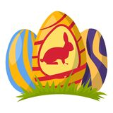 Color easter egg cartoon spring Royalty Free Stock Images