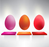 Color Easter egg Stock Images