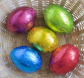 Color Easter eggs. Stock Image
