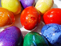 Color easter eggs. Easter eggs Royalty Free Stock Images