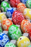 Color easter eggs background Stock Image