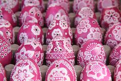 Color easter eggs background Stock Photo