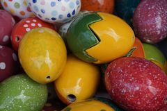 color easter eggs stock image