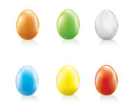 Color easter eggs set Royalty Free Stock Images