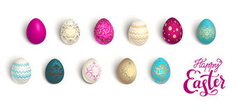 Color easter eggs stock illustration