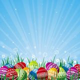 Color easter eggs, vector Stock Photo