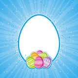 Color easter eggs, vector Stock Image
