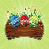 Color easter eggs, vector Stock Images