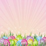 Color easter eggs, vector Royalty Free Stock Images