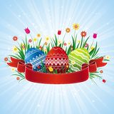 Color easter eggs, vector Royalty Free Stock Photo