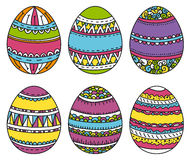 Color easter eggs, vector illustration Royalty Free Stock Images