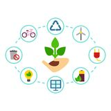 Color eco icons Royalty Free Stock Photo