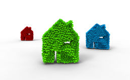 Color ecology house icon Royalty Free Stock Photo