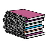 Color education notebooks school tools design royalty free illustration