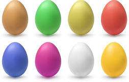 Color eggs Stock Photos