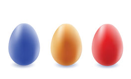 Color eggs. Color eggs on a white. Mesh. Vector illustration Stock Photography