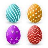 Color Eggs Collection With Gradient Mesh, design template, Vector Illustration.  stock illustration