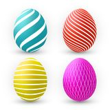 Color Eggs Collection With Gradient Mesh, design template, Vector Illustration.  vector illustration