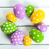 Color eggs for holiday easter Stock Image