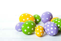 Color eggs for holiday easter Stock Photo