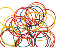 Color elastic bands Stock Image